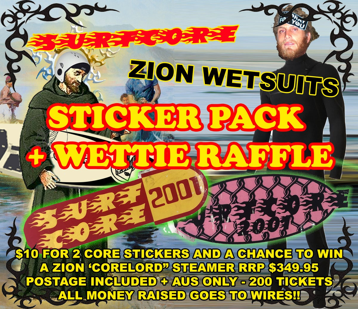Image of STICKER PACK ZION WETTIE RAFFLE