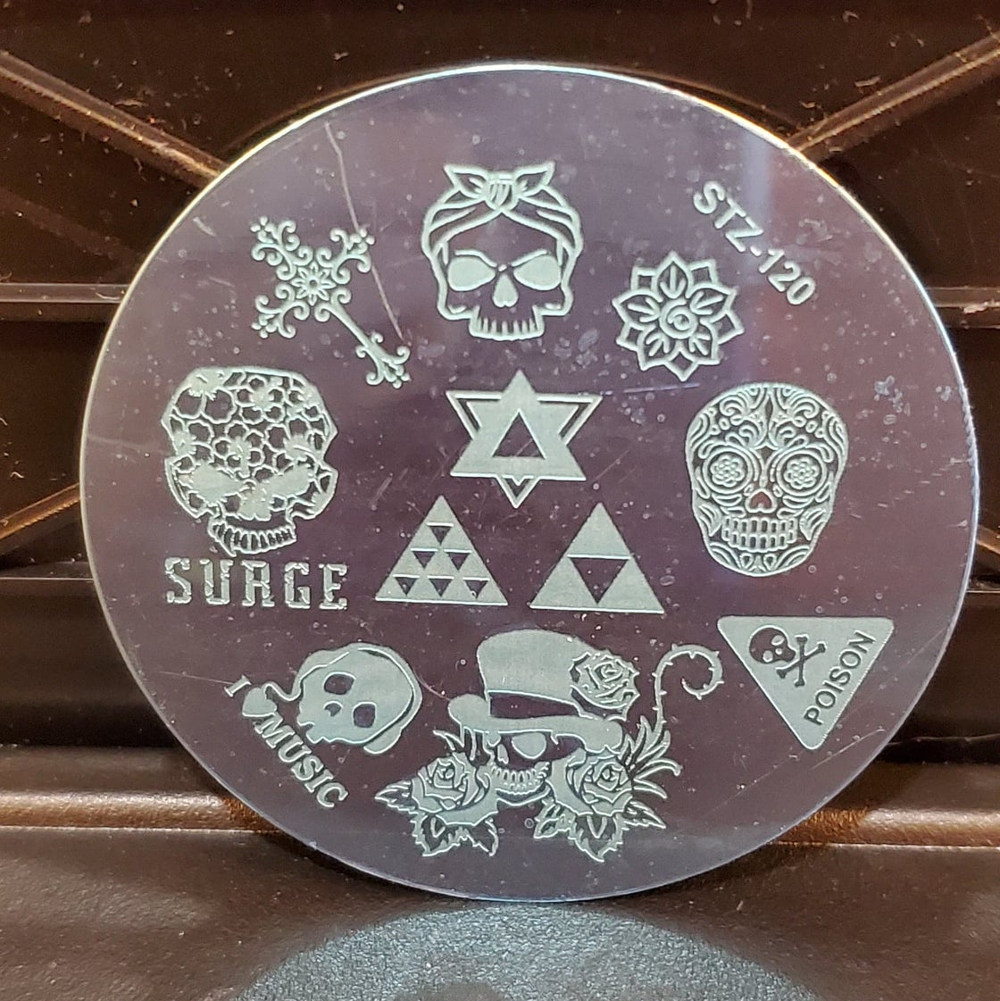 Image of Skull Stamping Plate NIP