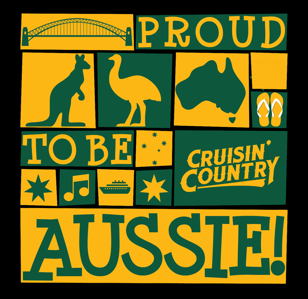 Image of Cruisin' Country Stubby Cooler - Proud to be Aussie