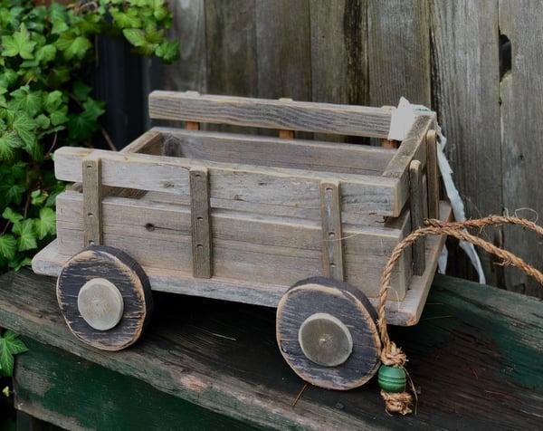 Image of Newborn Barn Board Wagon, Bitsy Wagon, Newborn Wagon Photo Prop, Baby Wagon, Wood Wagon, Prop