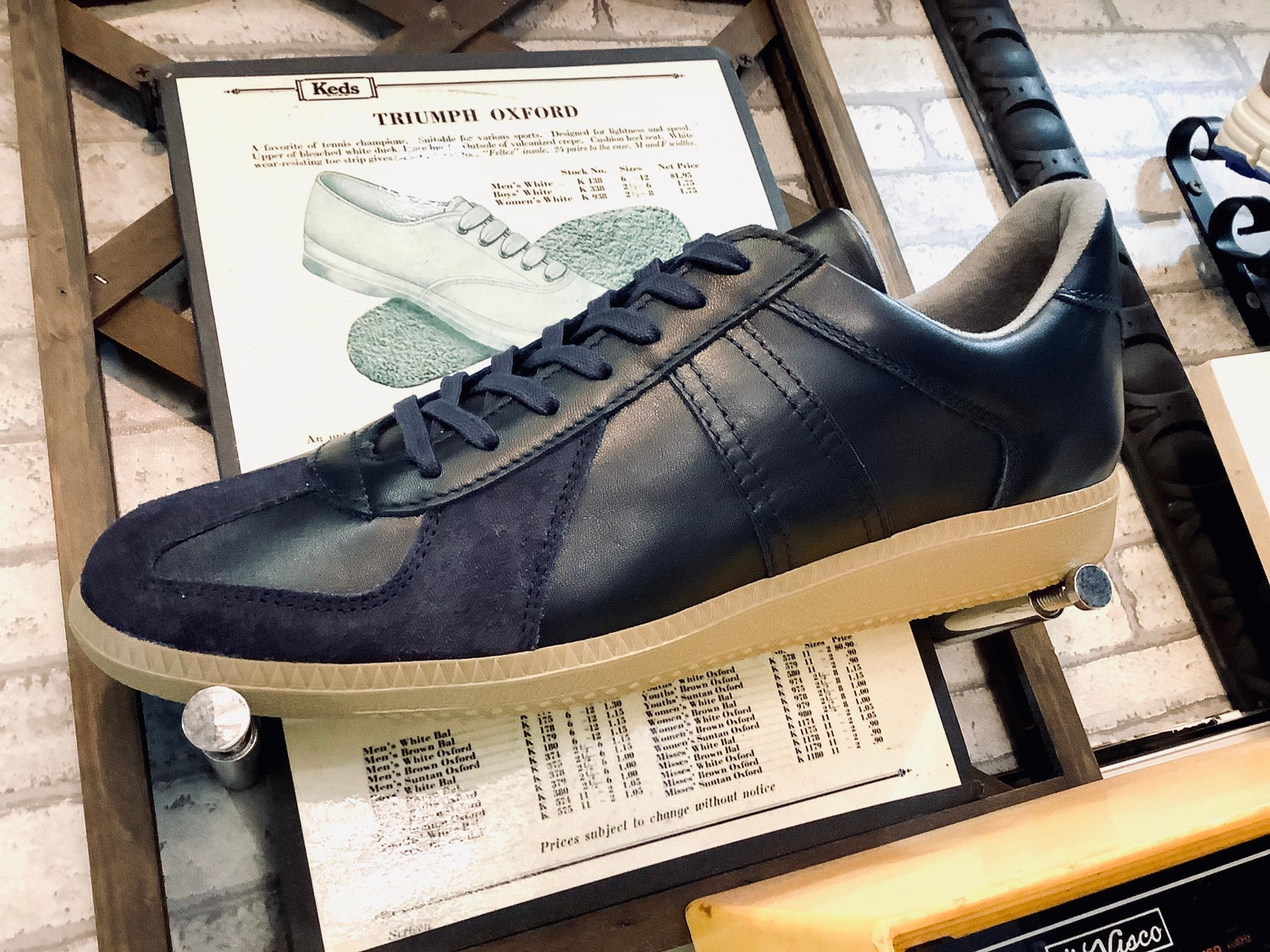 Image of VEGANCRAFT original German army trainer sneaker shoes made in Slovakia