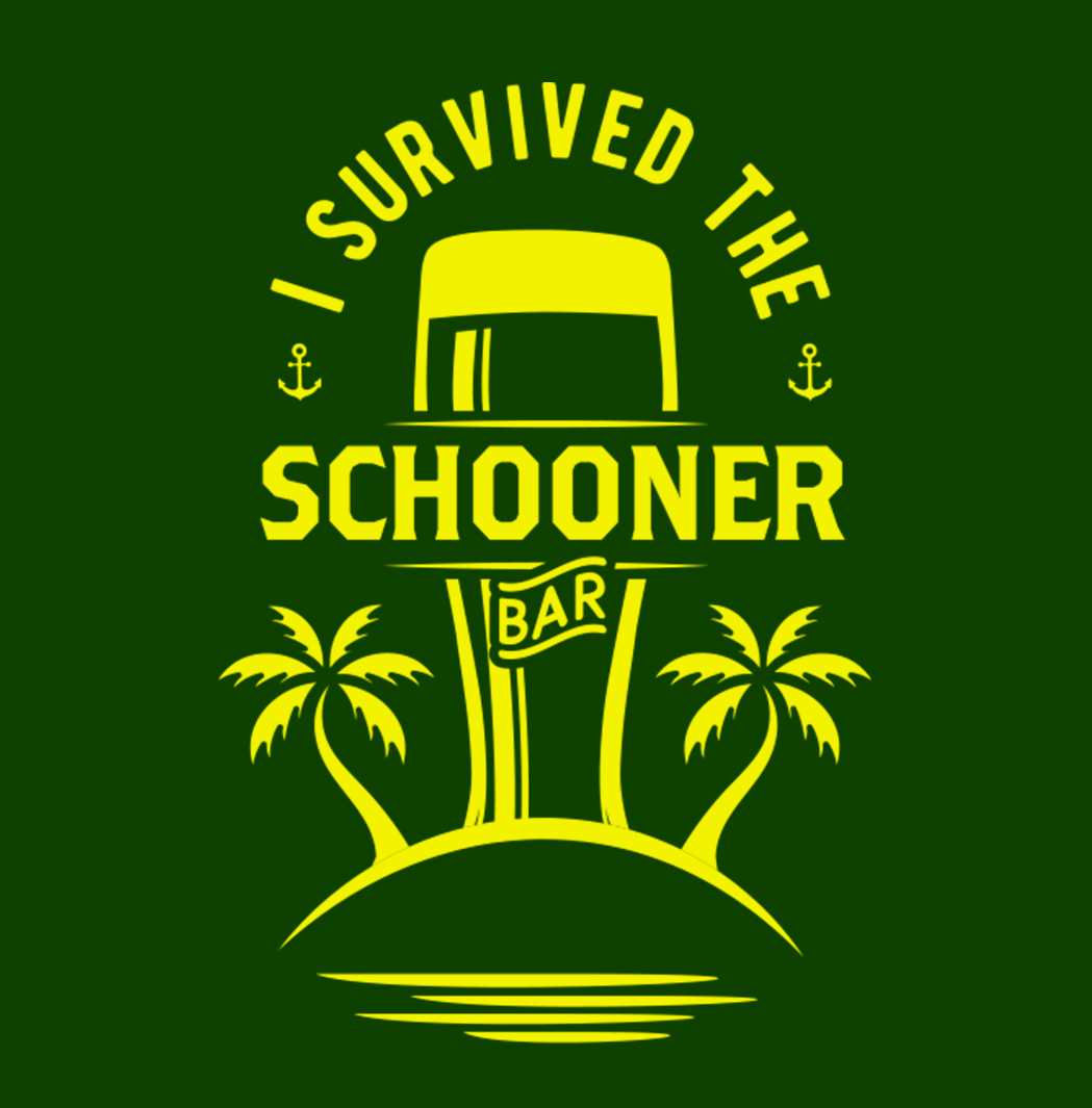 Image of 'I Survived the Schooner Bar' Magnet