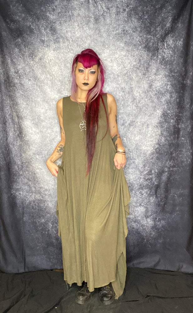 Image of Buttery Olive Maxi Modal Dress