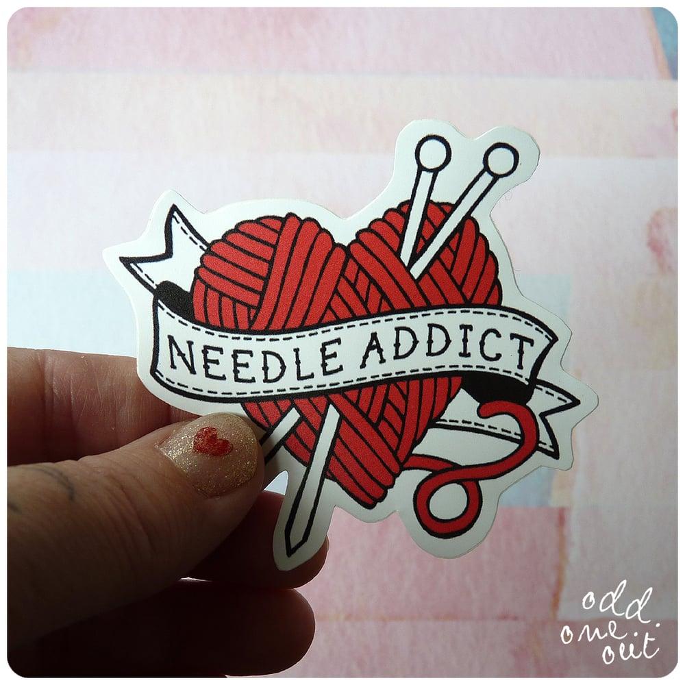 Image of Needle Addict - Vinyl Sticker