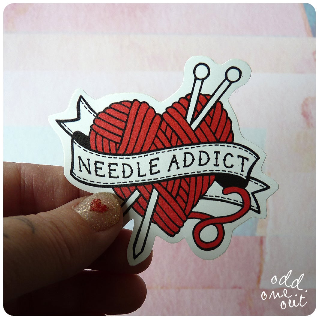 Image of Needle Addict - Vinyl Sticker