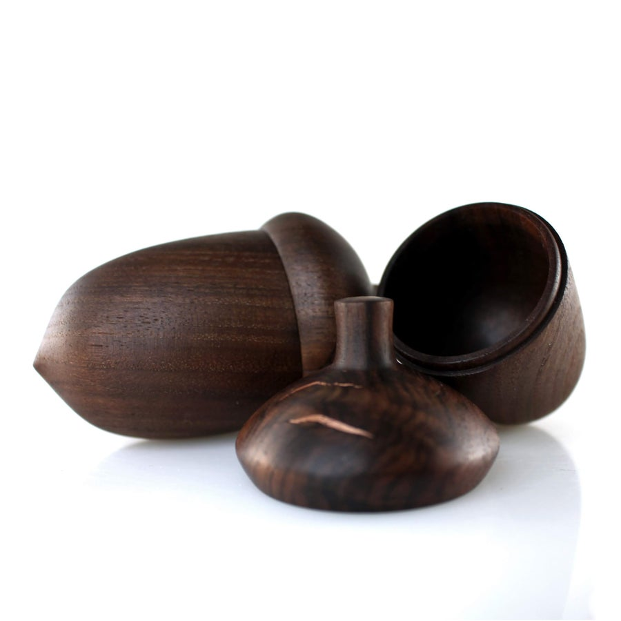 Image of Walnut Acorn Boxes