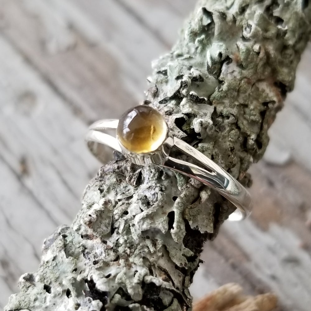 Image of Petite Citron - Citrine Ring in Sterling