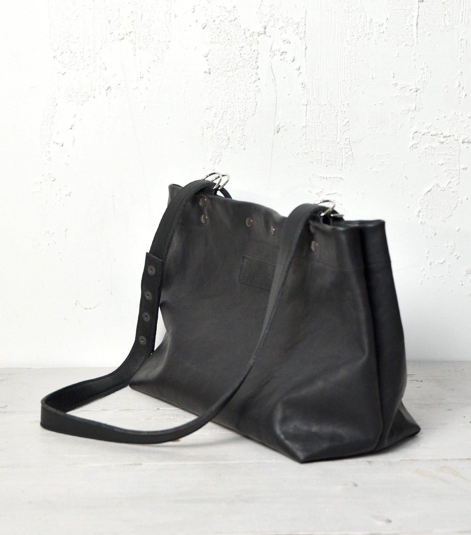 Image of Versatile Black Leather Case