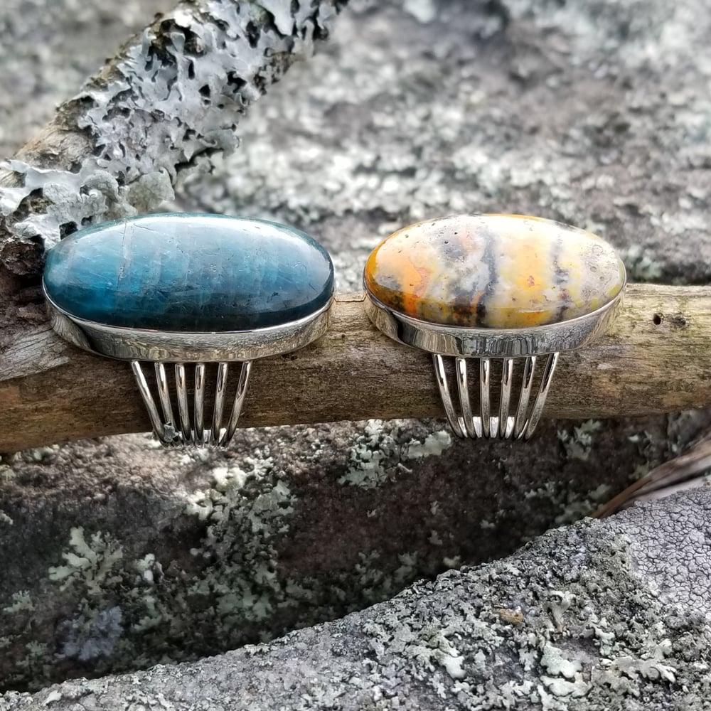 Image of Terang Rings - Apatite / Jasper in Sterling