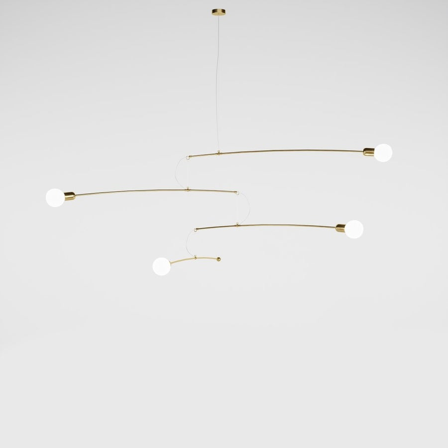 Image of Notos gold brass custom 210 cm large expo model