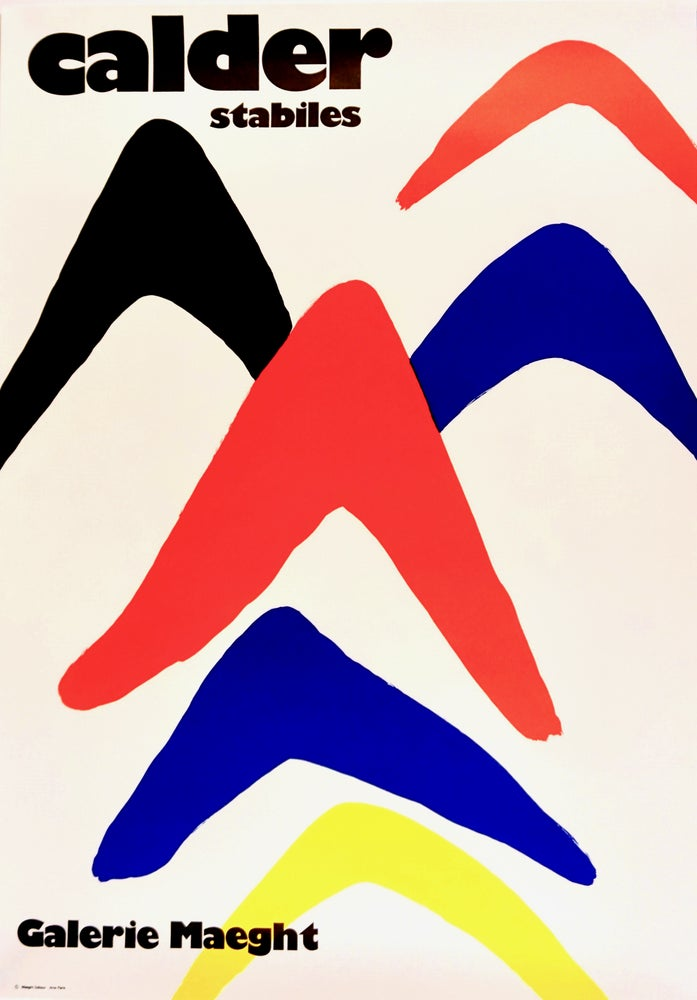 Image of poster / calder / gallery maeght