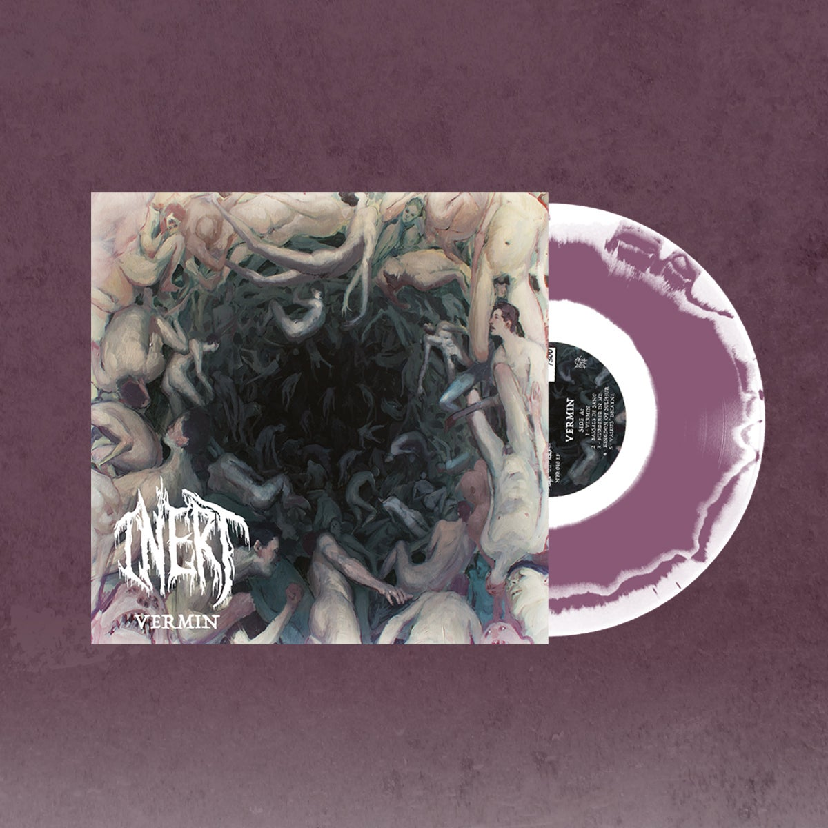 Image of NBR010LP Inert - Vermin Gatefold White / Lilac Swirl lim.to 222 Copies