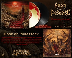 Image of NBR009LP Aeon of Disease - Edge of Purgatory LP BUNDLE Black+ Red/ Gold Swirl