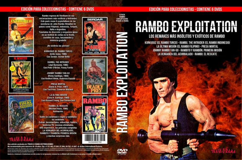 Image of Pack 6 DVD Rambo Exploitation