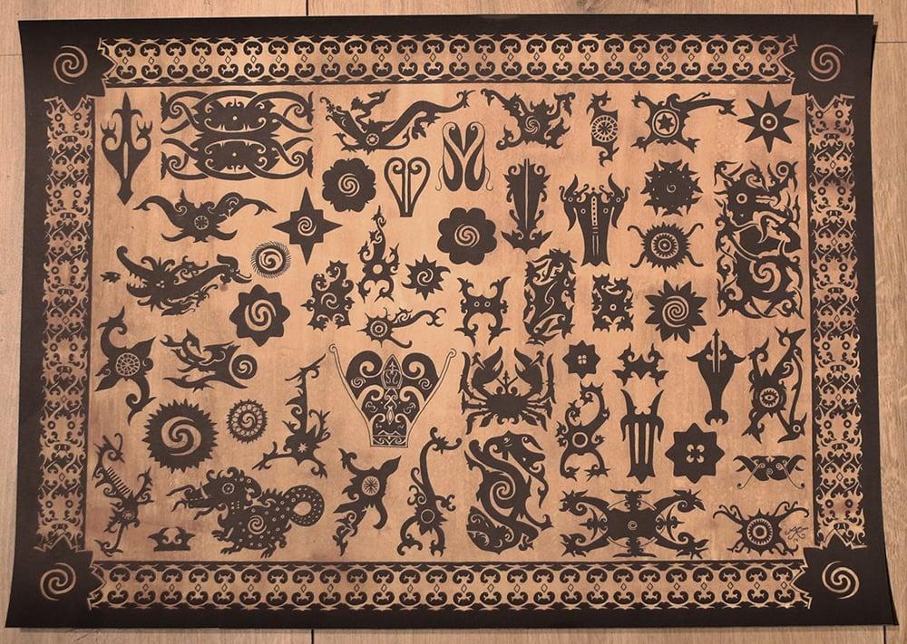 Image of Borneo print