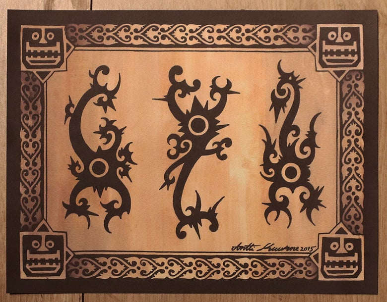 Image of Borneo scorpions print