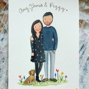 Image of Personalised Couple Portrait Painting