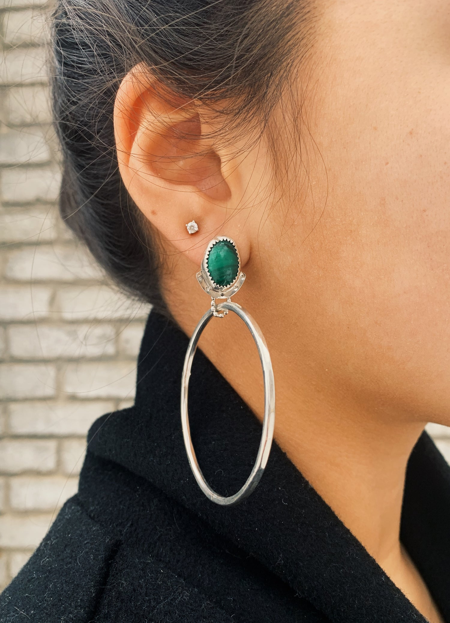 Image of Malachite Hoops
