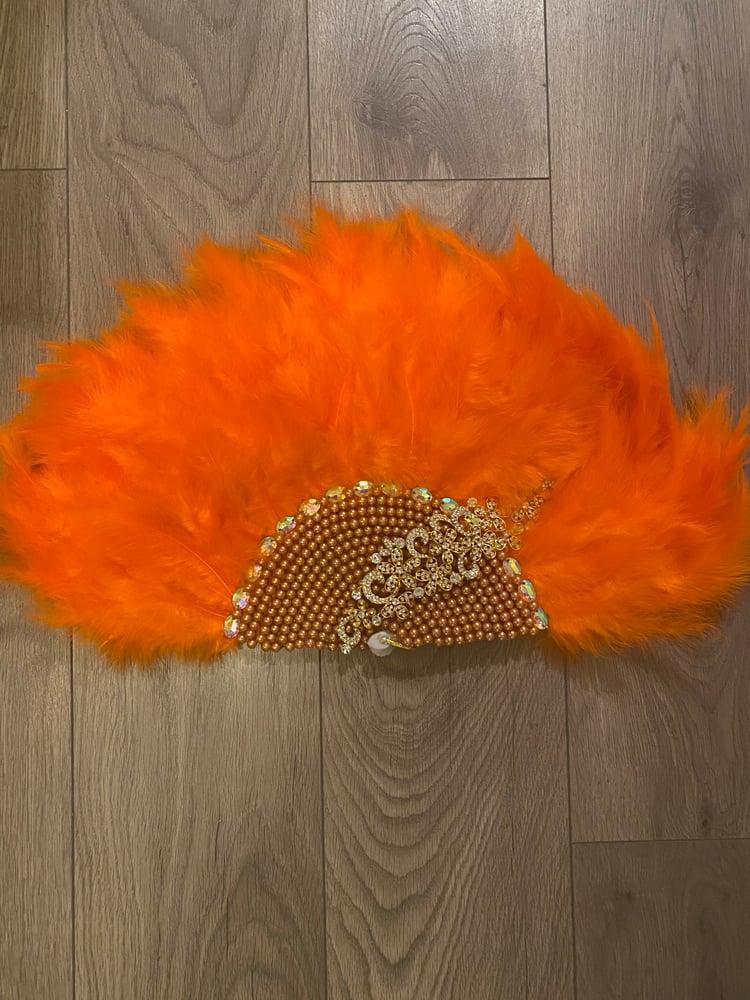 Image of Orange handfan