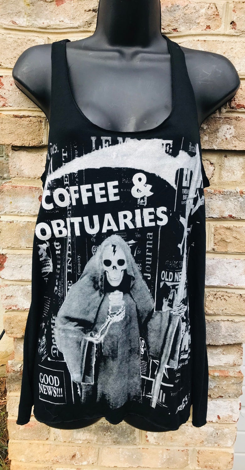 Image of Coffee and Obituaries Women's Tank