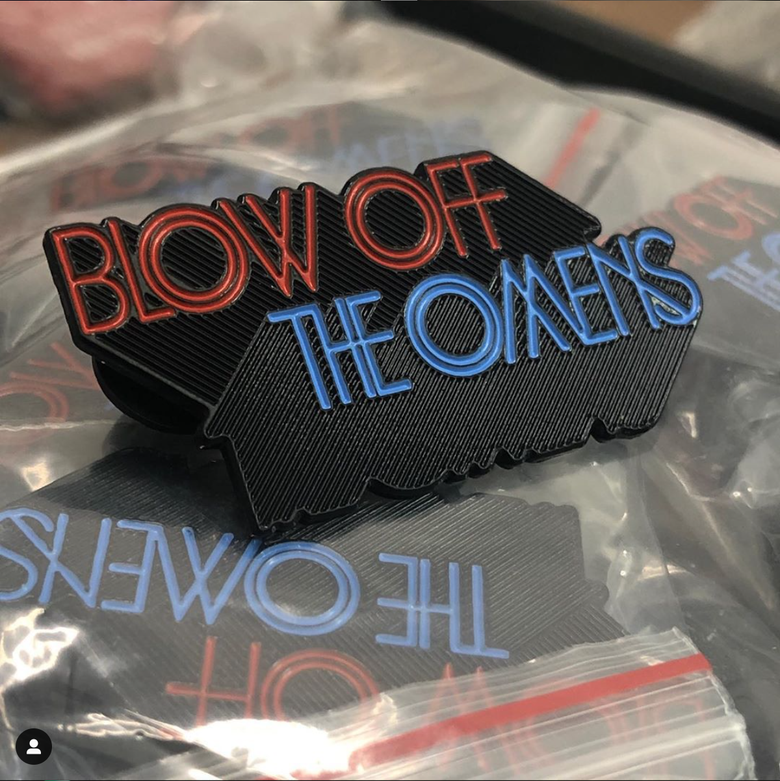 Image of CB Enamel Pin - Blow Off The Omens