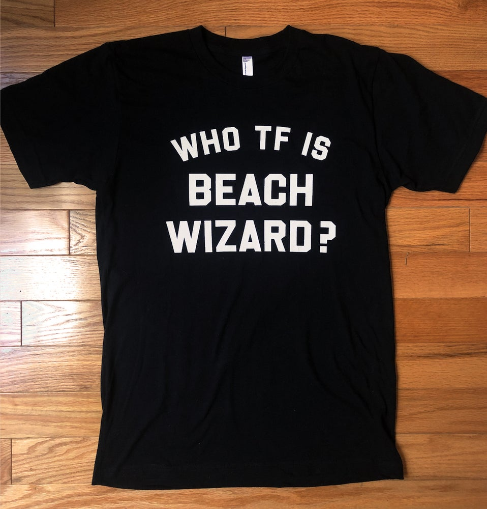 Image of Unisex Beach Wizard T-Shirt Black (WWF Donations)