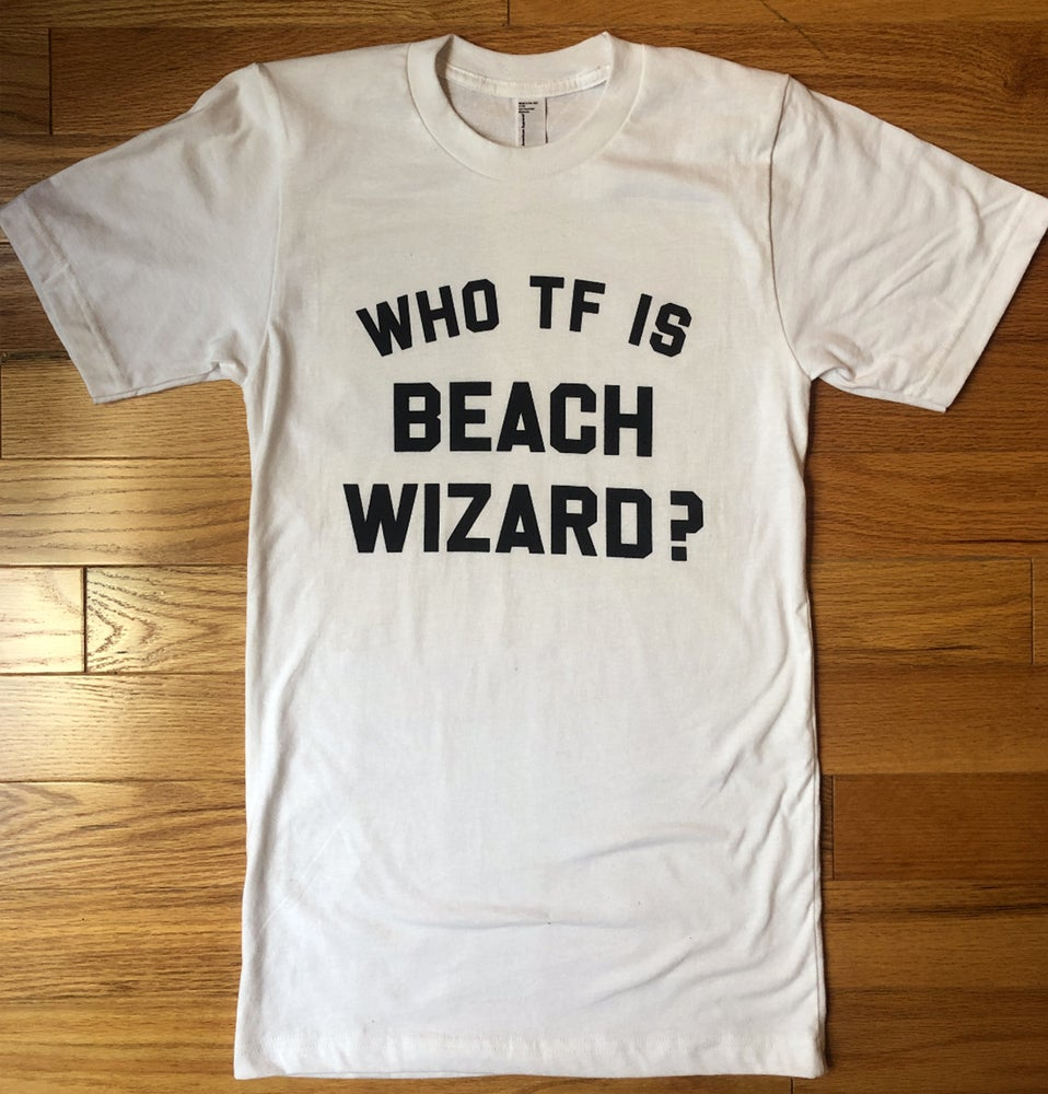 Image of Unisex Beach Wizard T-Shirt White (WWF Donations)