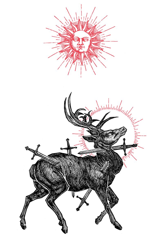 "Image of ""The Sacrifice"" 8.5""x11"" Watercolor Print"