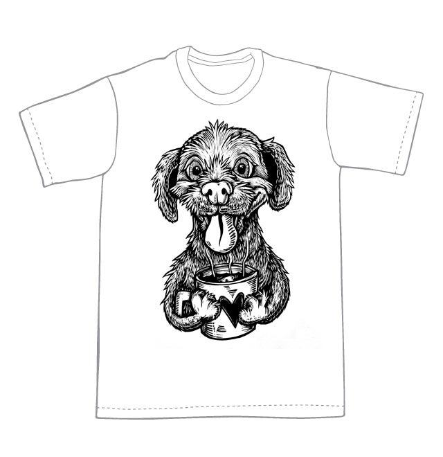 Bee Happy Puppy T-shirt (A1) **FREE SHIPPING**