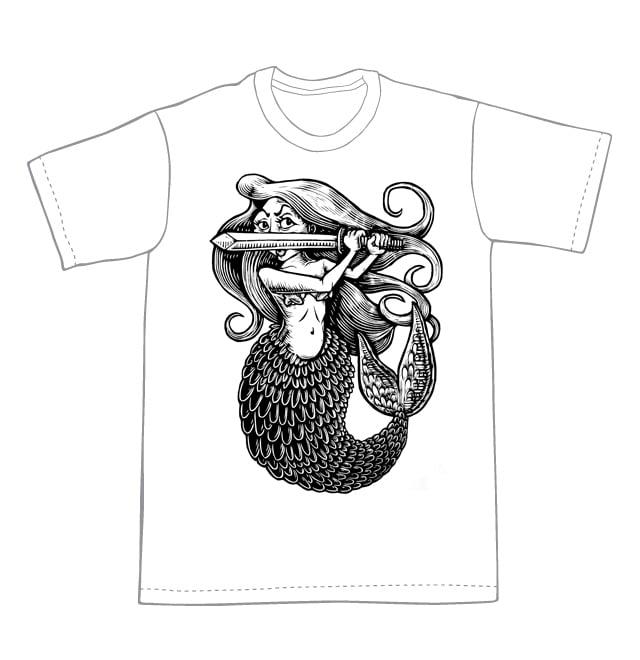 Mermaid T-shirt ( B2)**FREE SHIPPING**