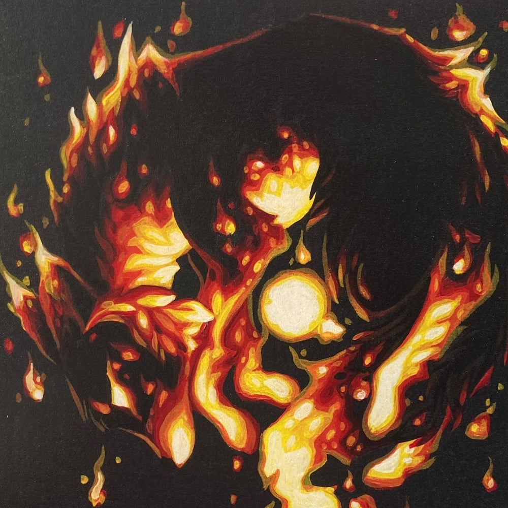 Image of Red Flame + Blue flame - Print Pair