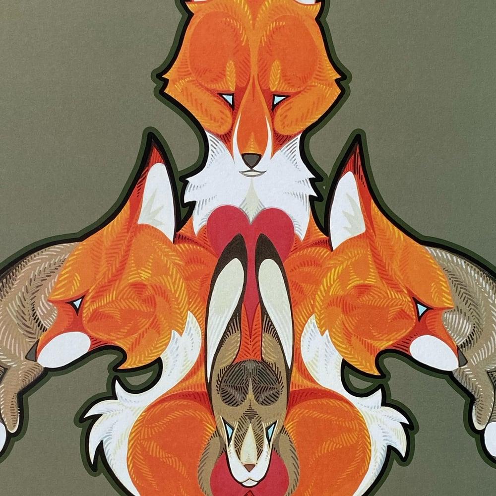 Image of Fox Fleur de Lis