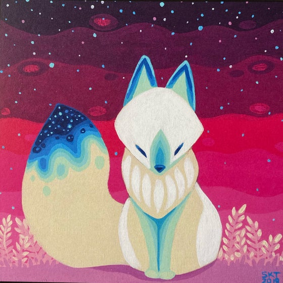 Image of Pink Galaxy Fox - Print