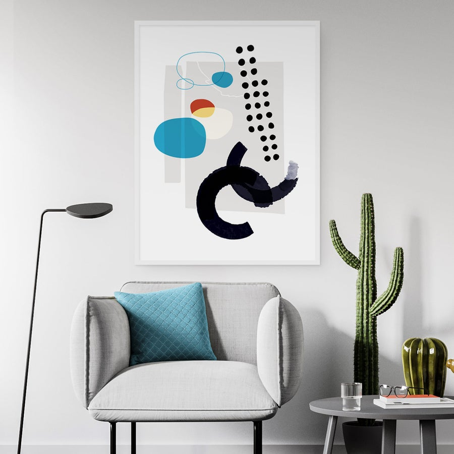 Image of Shape & Hue Series No. 4 Art Print