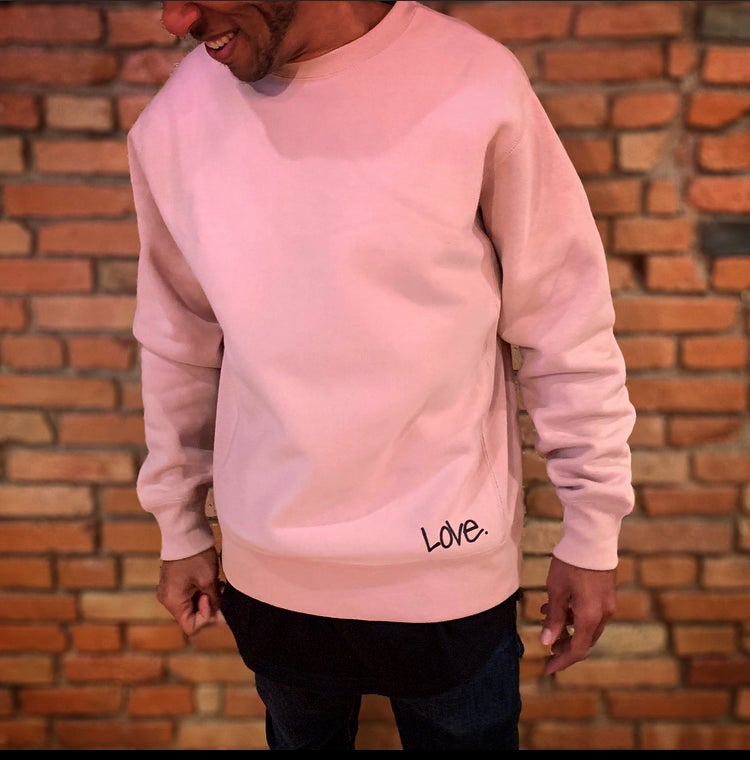 "Image of (Red Label.) Pink Champagne ""Love...period!"" Sweatshirt"