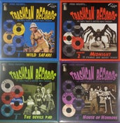 "Image of 10"" LP. V.A. : Trashcan Records, Vol 1,2,3 & 4."