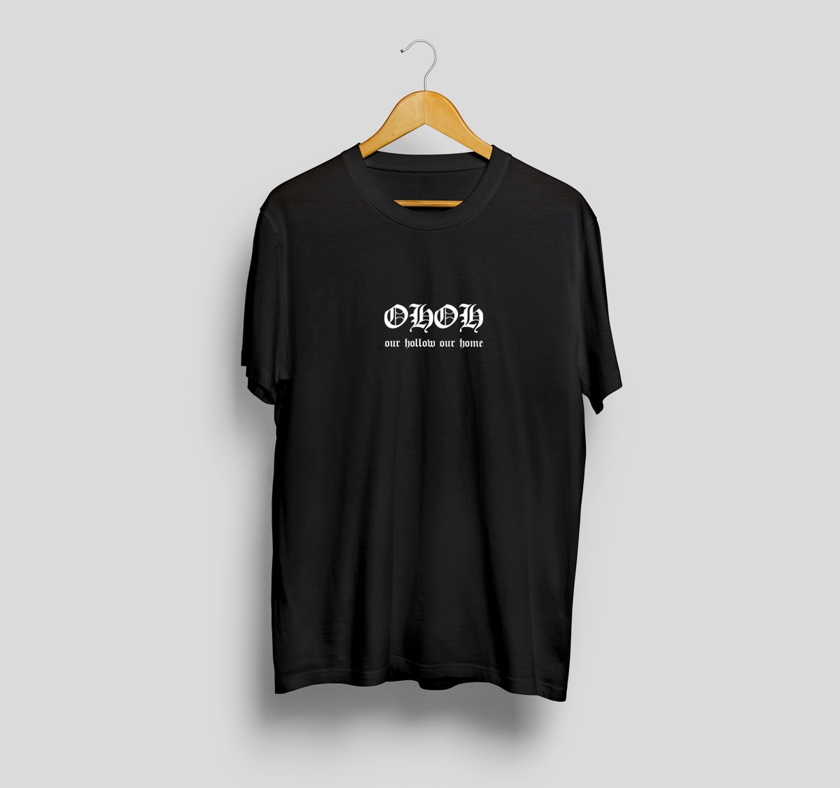 Image of OHOH GOTHIC LOGO EMBROIDERED TEE