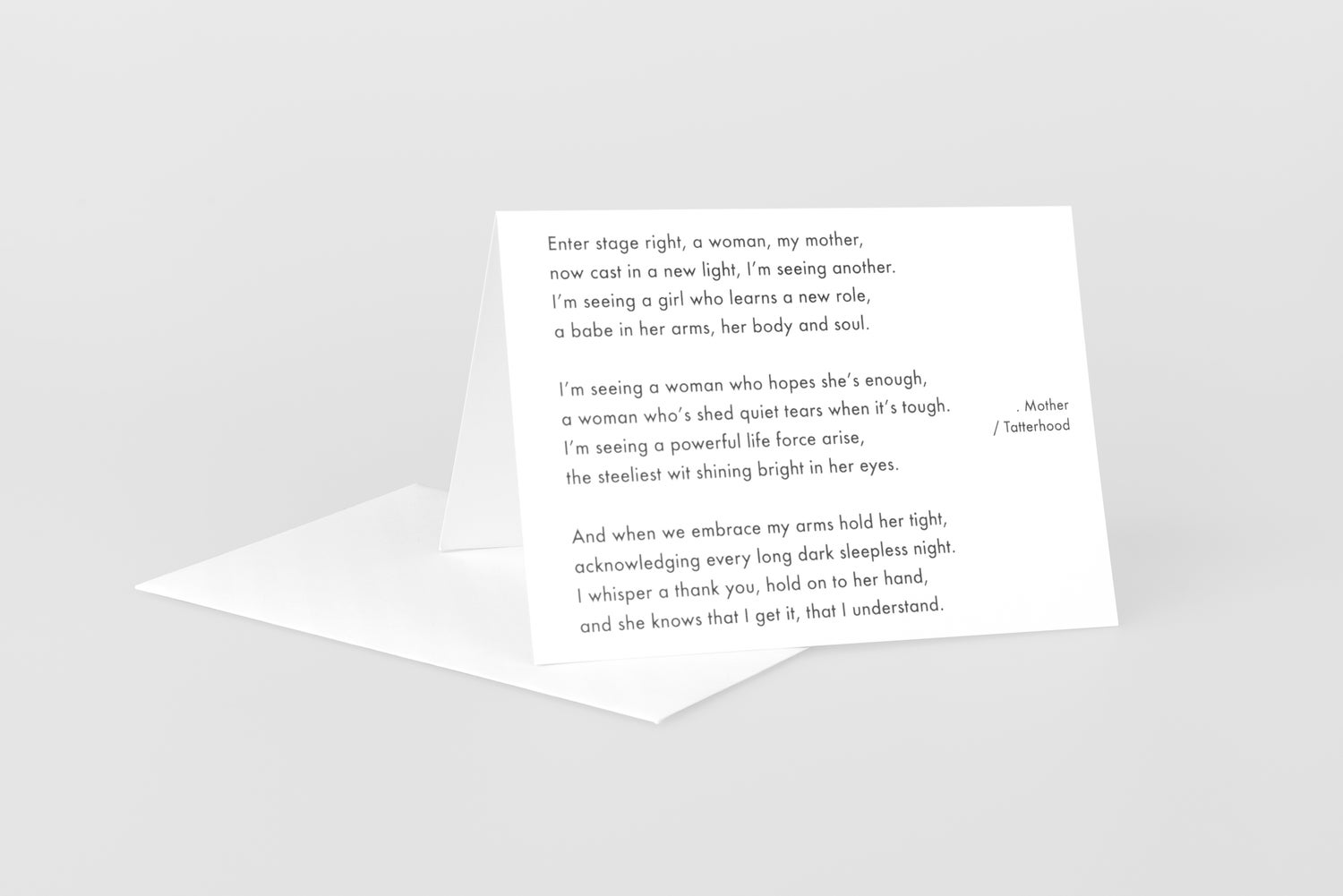 Image of Mother - Poem greetings card