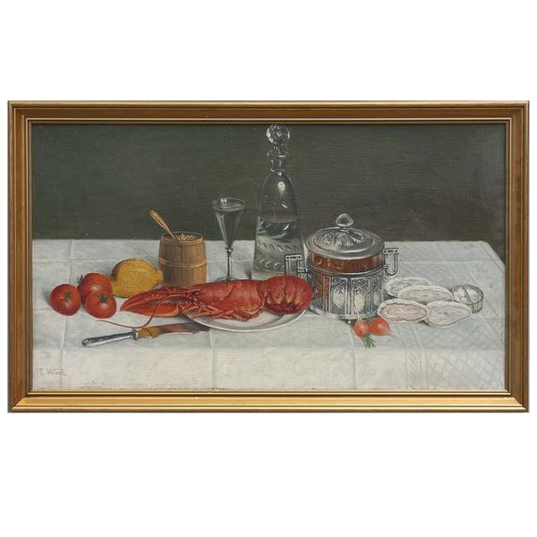 Image of Late 19thC Swedish Still Life, Johan Leonard WIEDH (1866-1938)