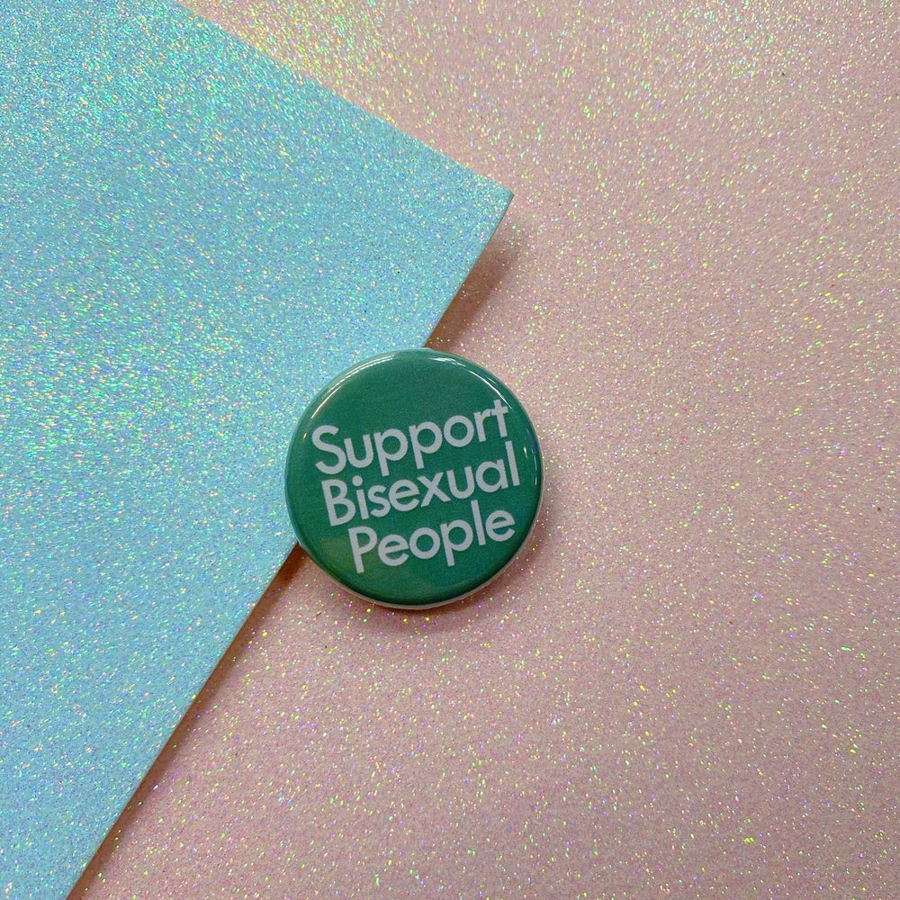 Image of Support Bisexual People Button Badge