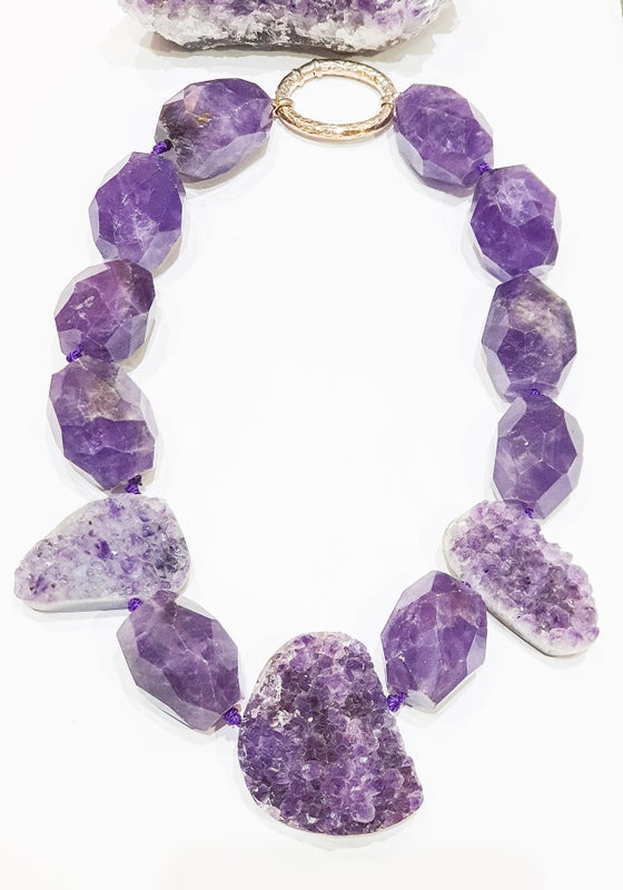 Image of Chunky Amethyst Necklace