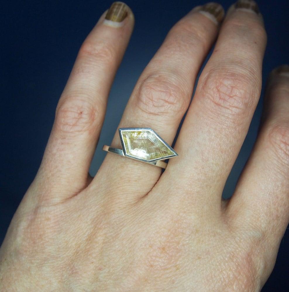 Image of Golden Rutilated Quartz Ring