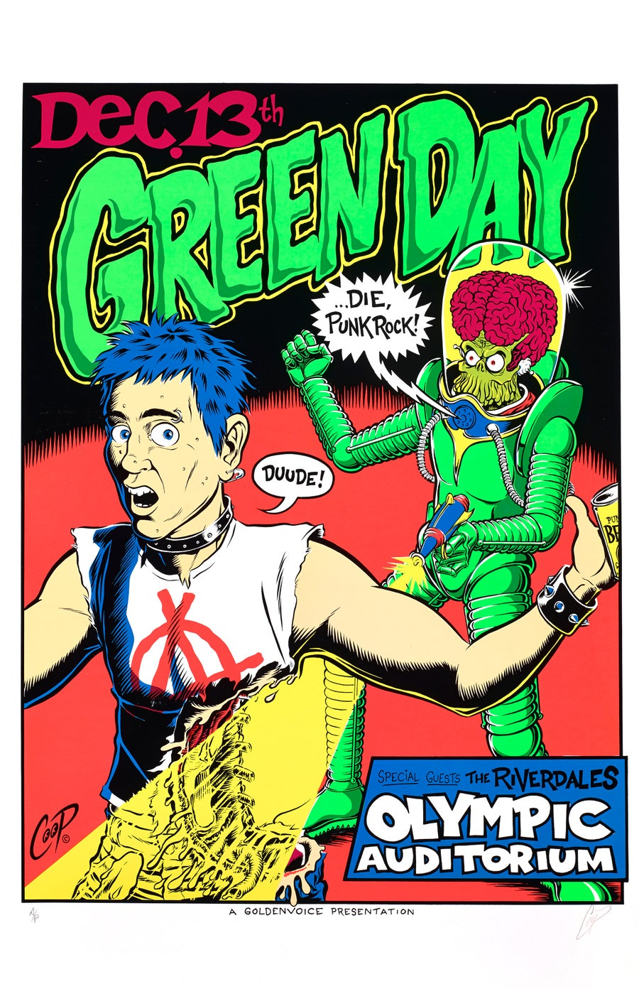 Image of GREEN DAY Vintage Silkscreen Print