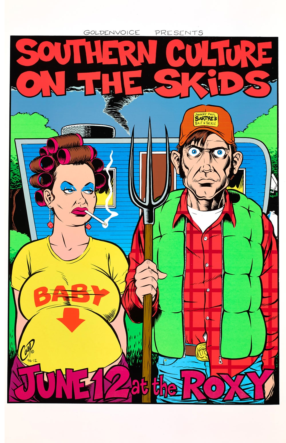 Image of SOUTHERN CULTURE ON THE SKIDS Vintage Silkscreen Print