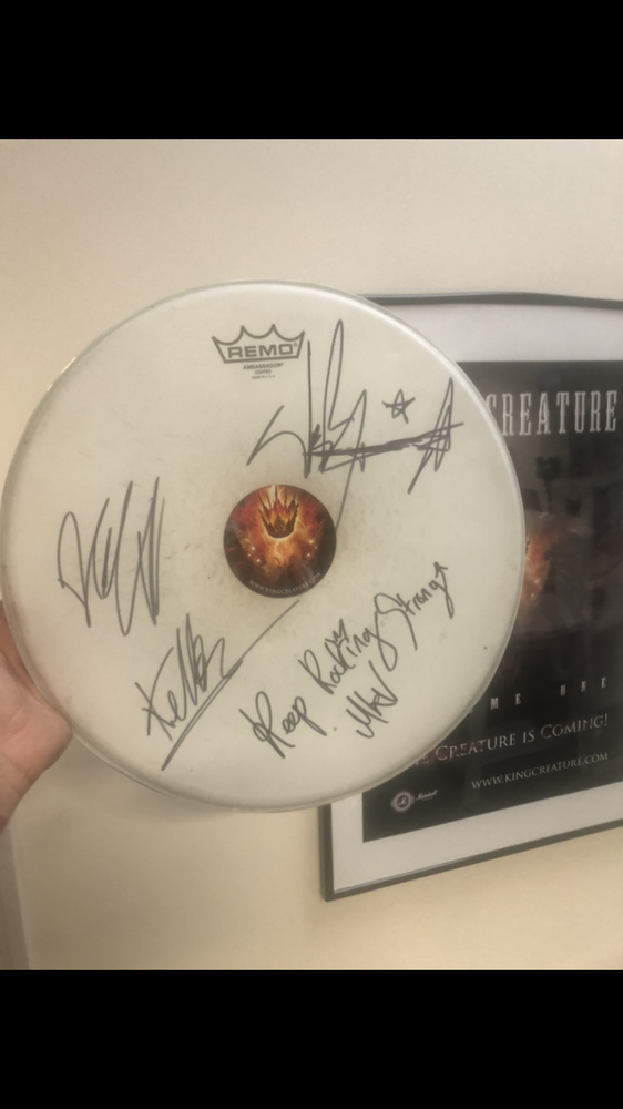 Image of SIGNED KC TOUR DRUM SKIN