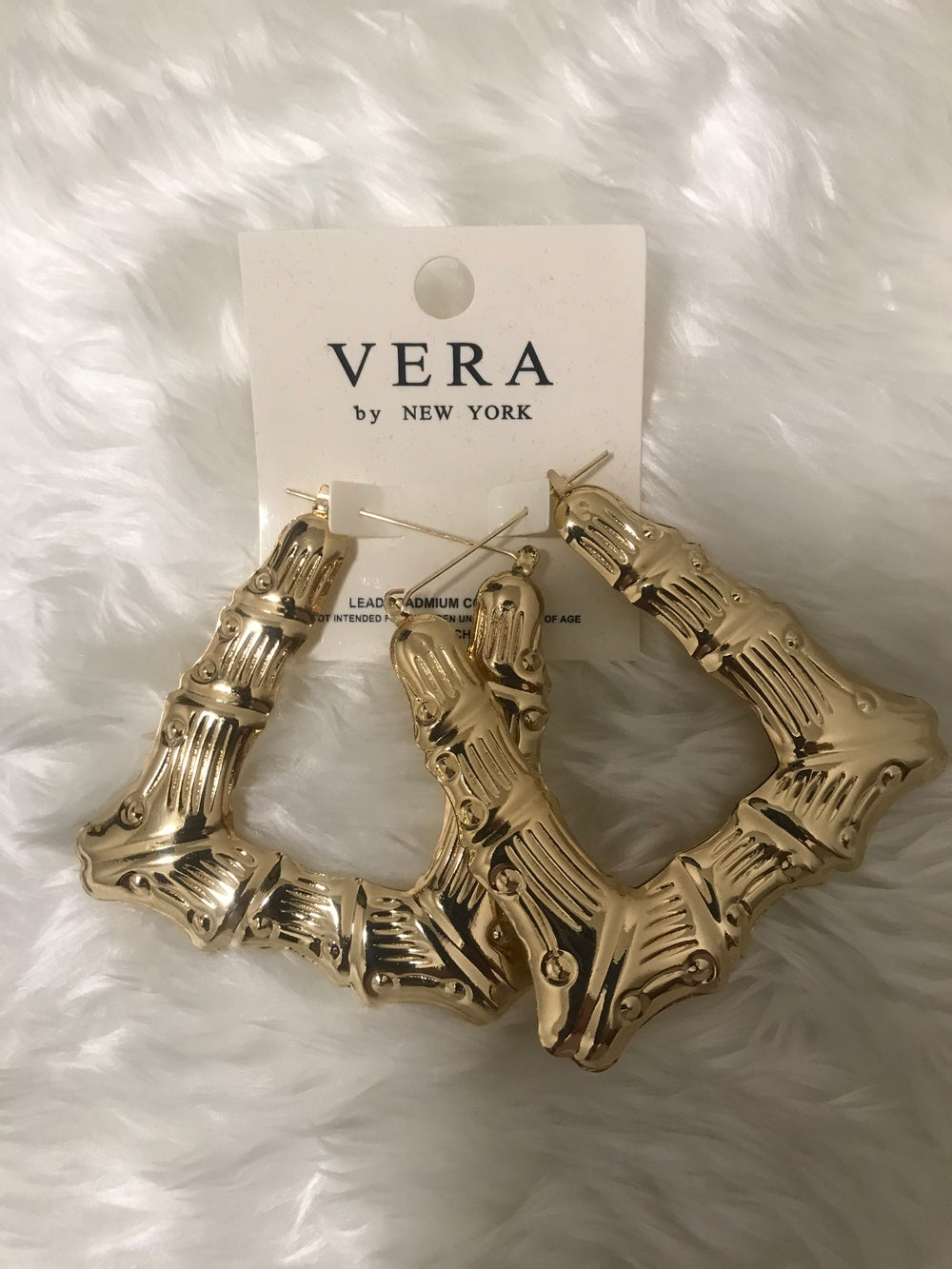 Image of Triangle Bamboo Earrings