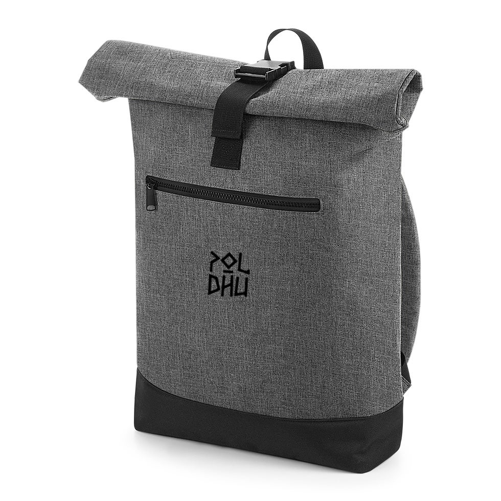 Image of GREY ROLLTOP BACKPACK