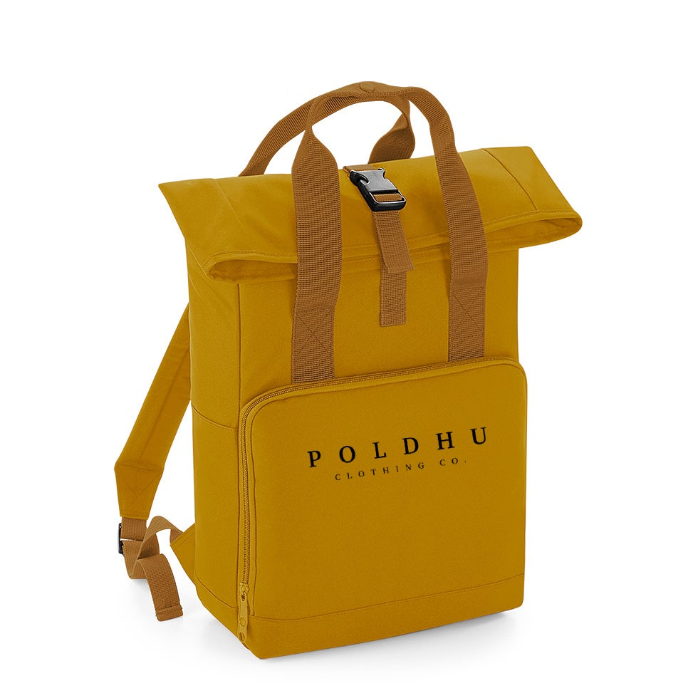 Image of TWIN HANDLE ROLLTOP BACKPACK - MUSTARD