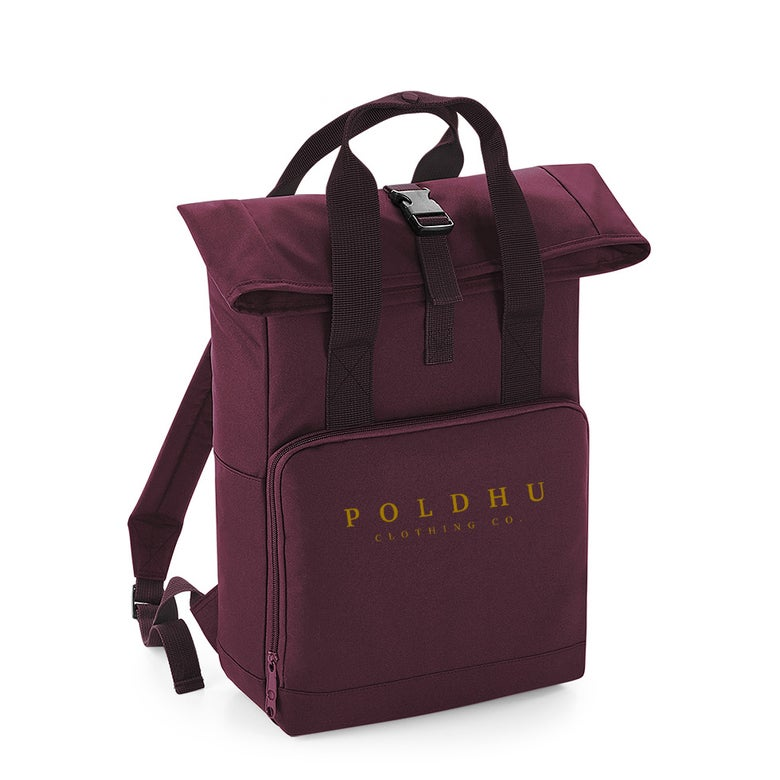 Image of TWIN HANDLE ROLLTOP BACKPACK - BURGUNDY