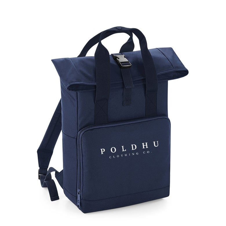 Image of TWIN HANDLE ROLLTOP BACKPACK - NAVY